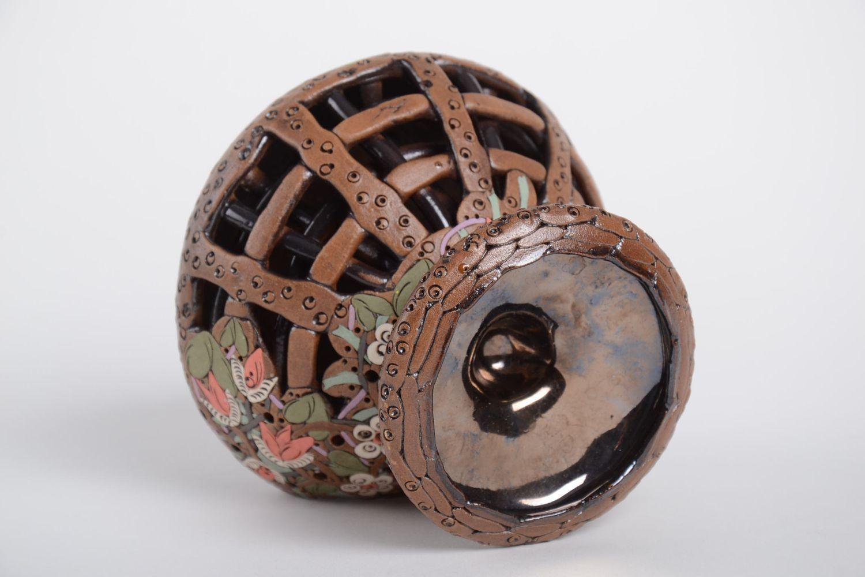 Handmade carved designer candlestick stylish aroma lamp ceramic candlestick photo 3