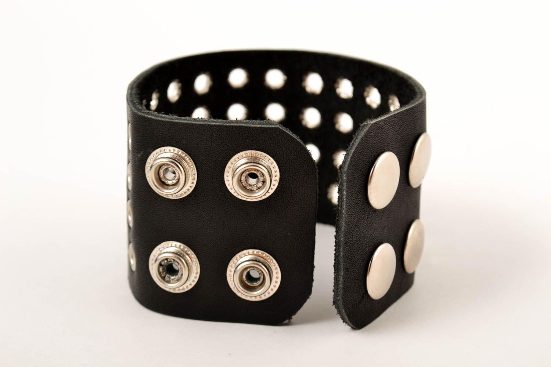 Leather wrap bracelet handmade jewelry men accessories handmade leather goods photo 2