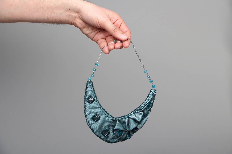 Handmade fabric necklace Rain Lover photo 3