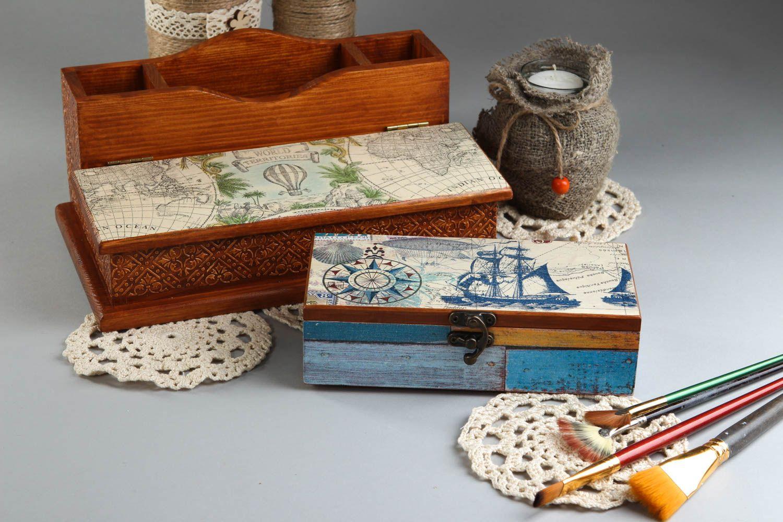 Schreibwaren Handmade Schreibtisch Accessoires Holz Dekoration Wohnzimmer  Schatulle Aus Holz   MADEheart.com