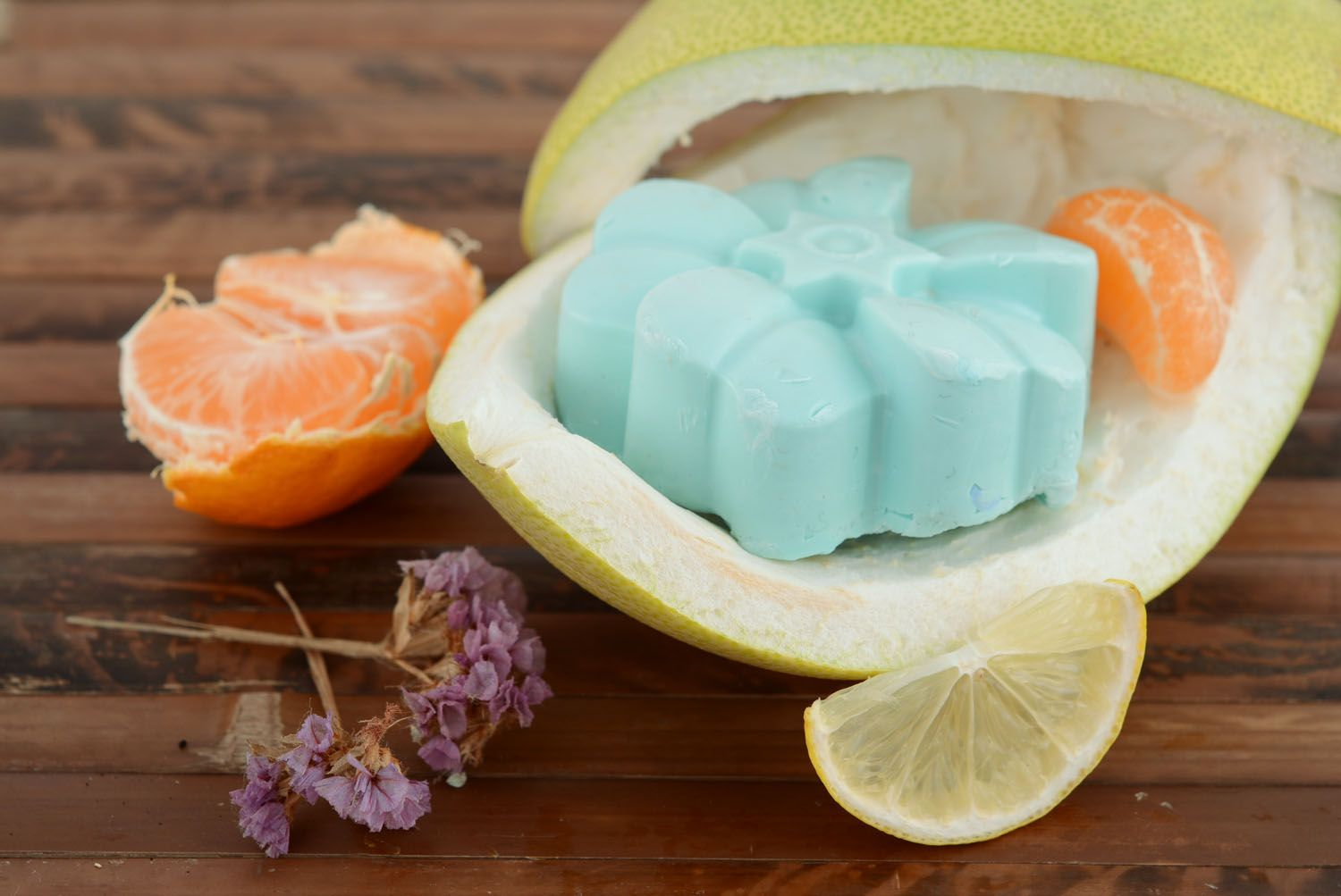 Soap with blue clay photo 1