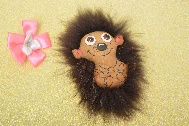 Beautiful soft toy stylish unusual accessories designer handmade hedgehog photo 1