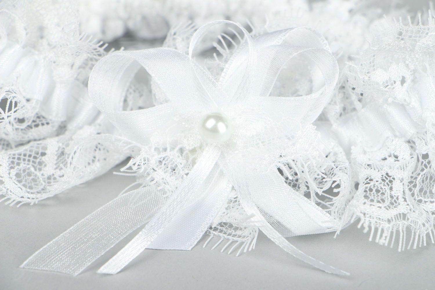clothes Bride garter with French lace - MADEheart.com