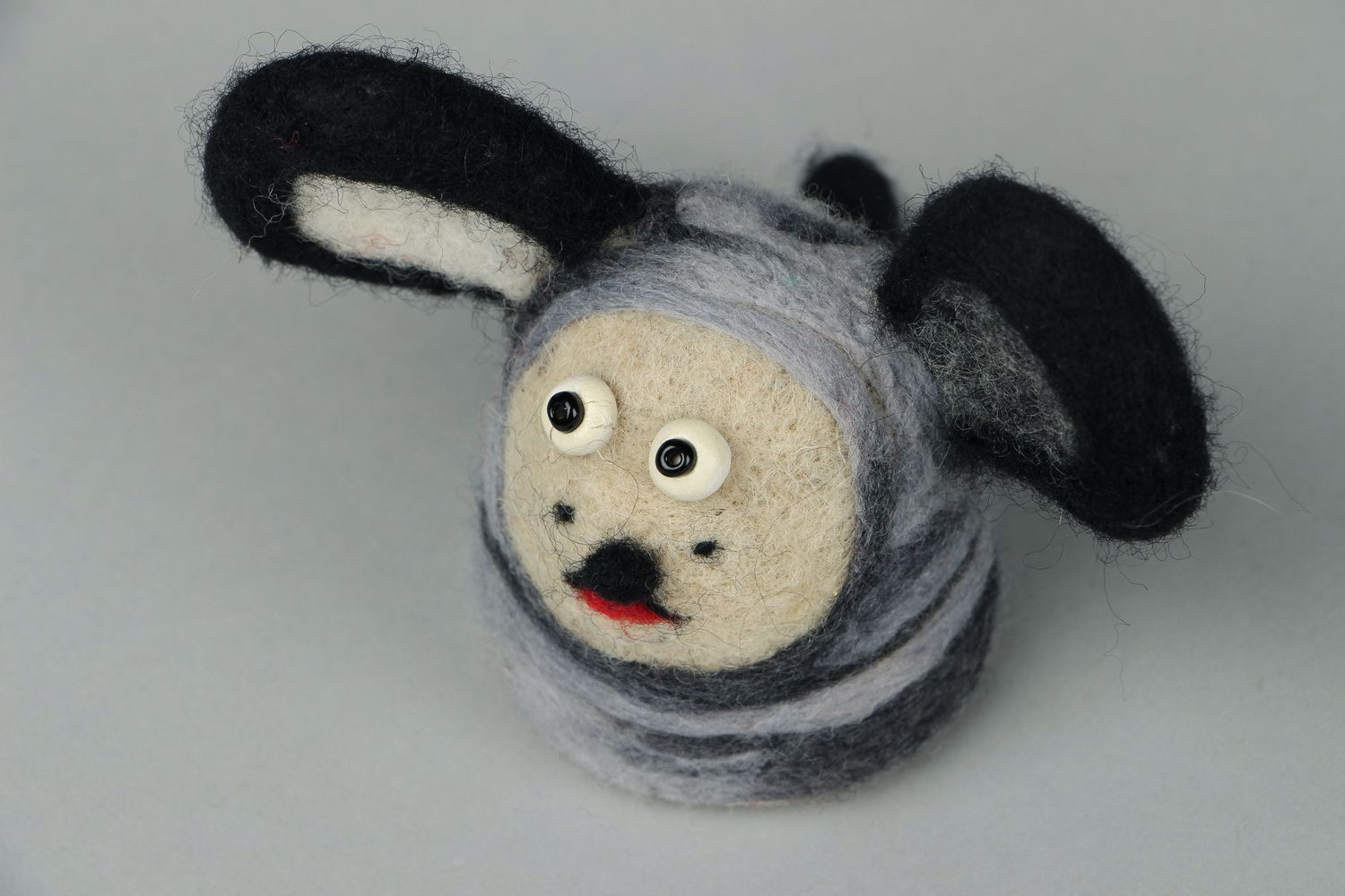 Toy made of felted wool Doggie photo 2