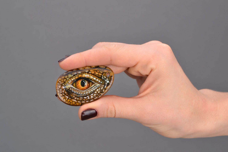 Tiger's eye stone pendant photo 2