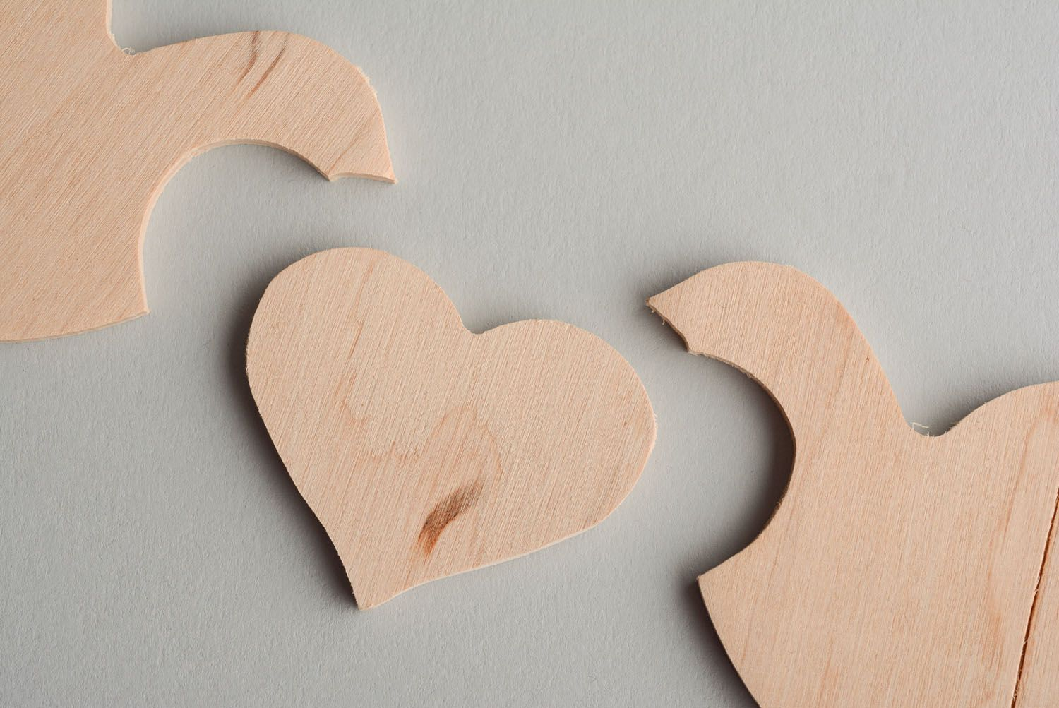 Wooden blank for painting Birds in Love photo 5