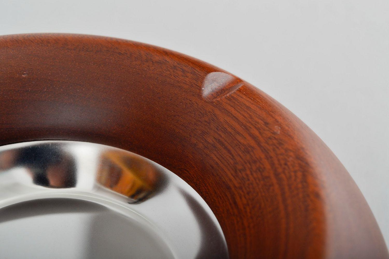 Handgemachter Aschenbecher aus Sapelli foto 3