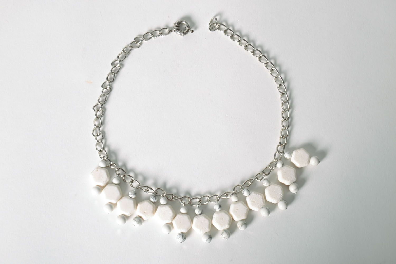 Halskette aus Kalmückenachat und Koralle foto 2