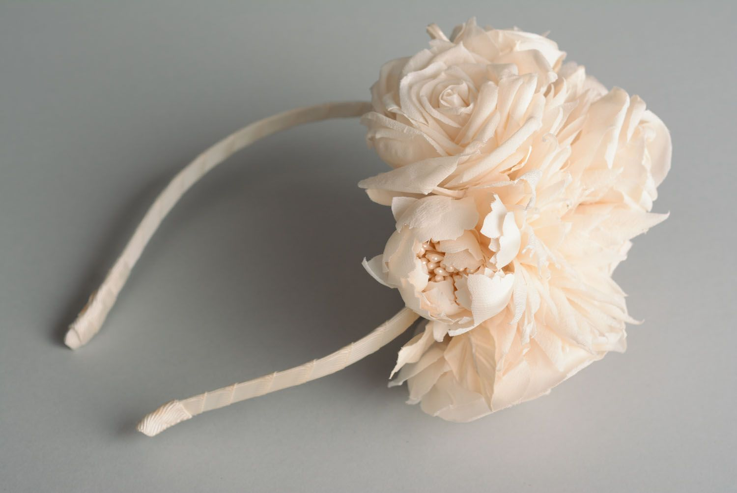 wedding accessories Wedding headband with flowers Pastel - MADEheart.com