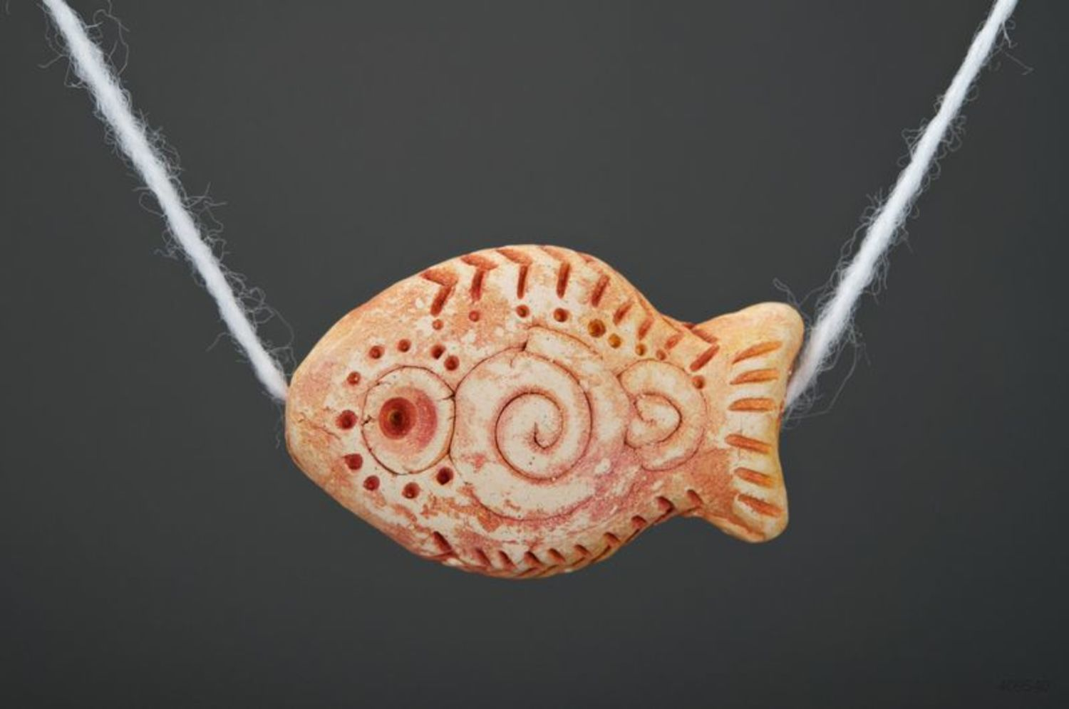 Ceramic pendant Fish photo 3