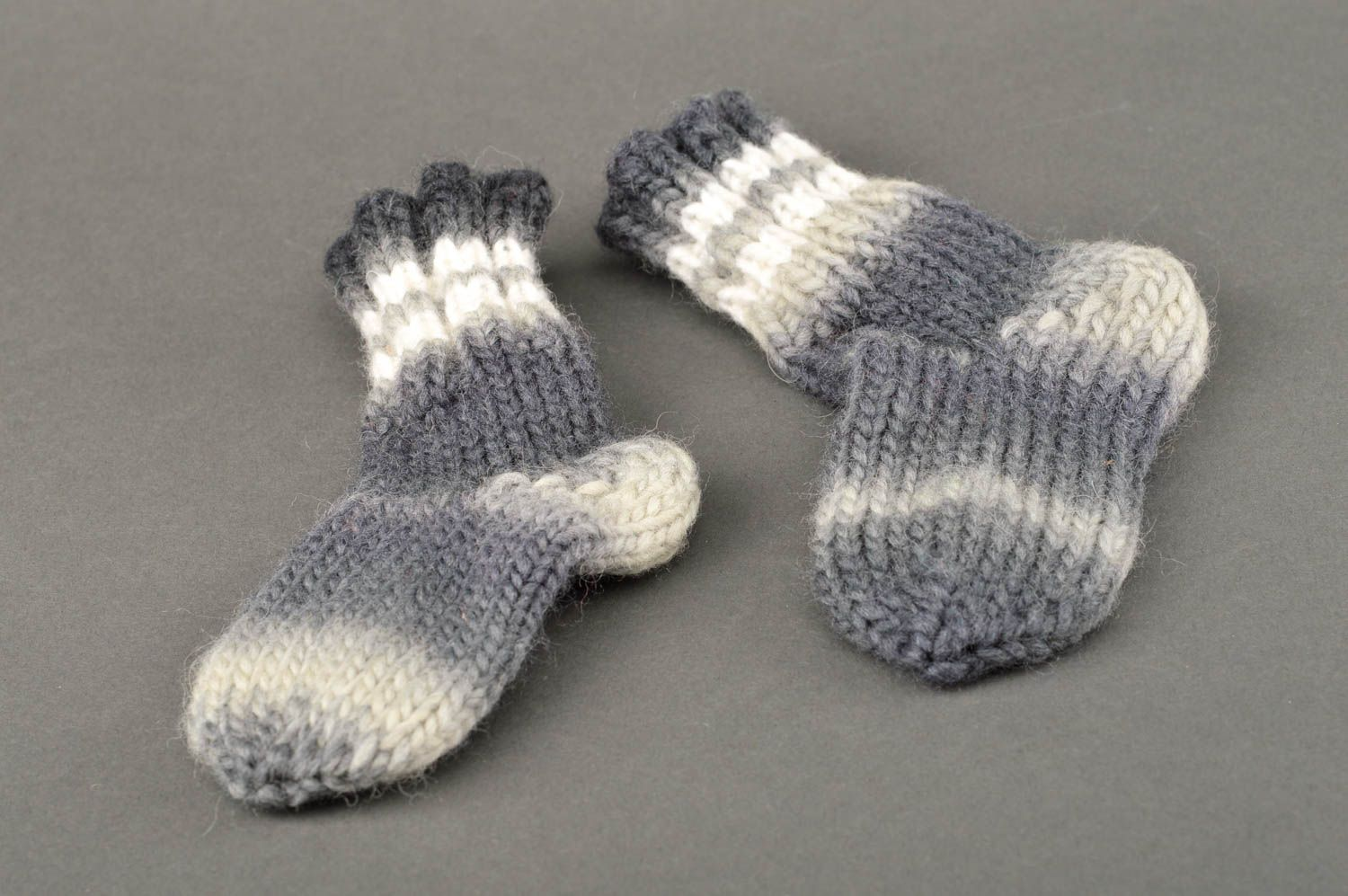Warm winter socks hand-crocheted socks present for women present for friend - MADEheart.com