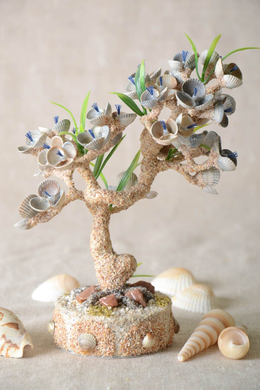 Handmade tree decoration tree composition with flowers table decor gift ideas photo 1