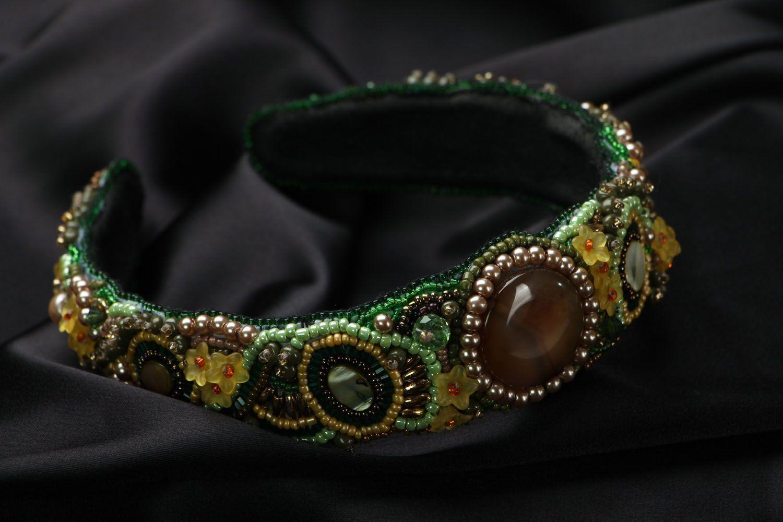Headband with Czech beads photo 1