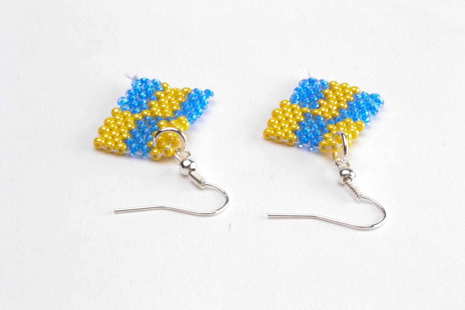 Earrings with polymer beads photo 2