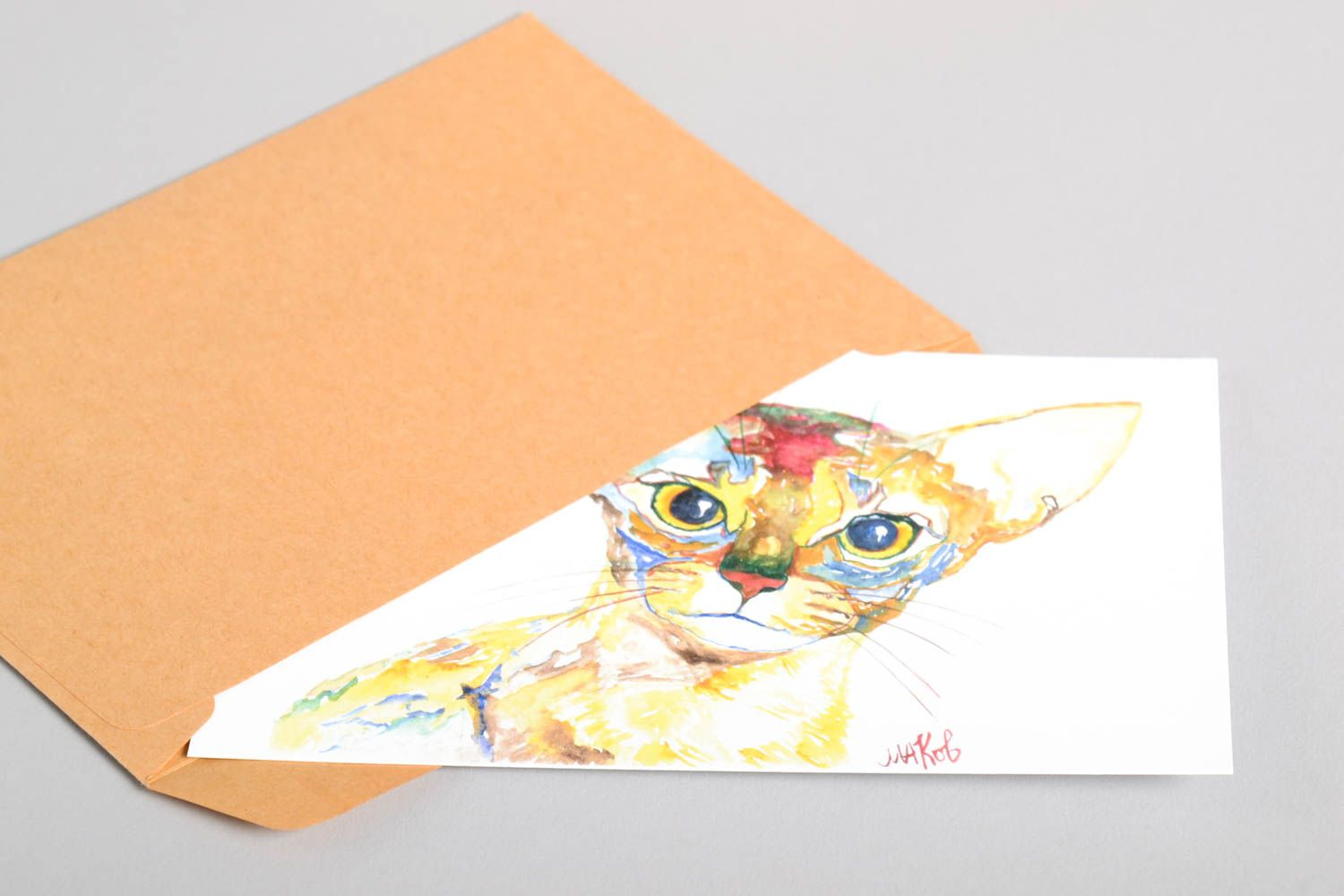 Handmade greeting card birthday card thank you card designer post card  photo 4