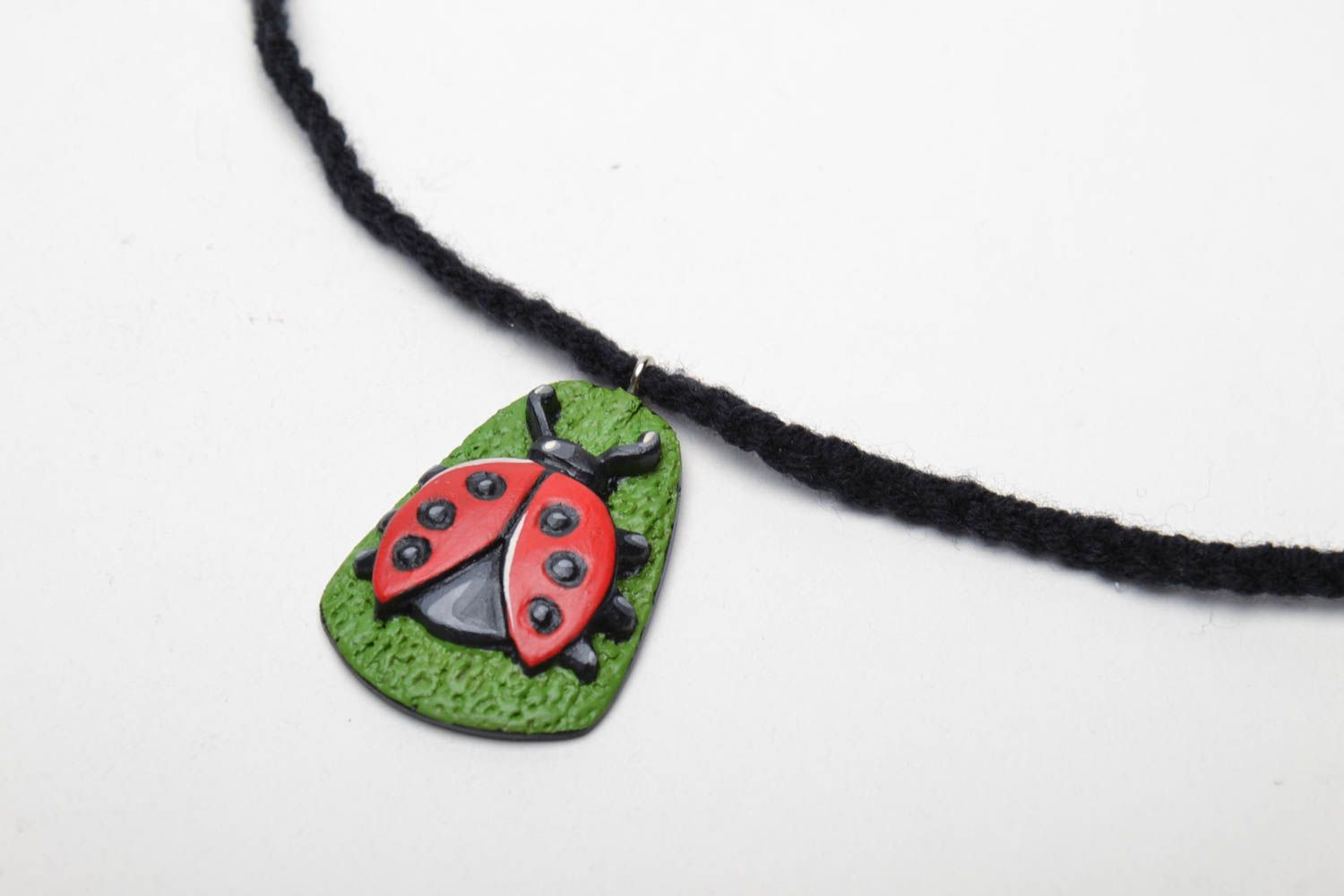 Wooden pendant Ladybird photo 3