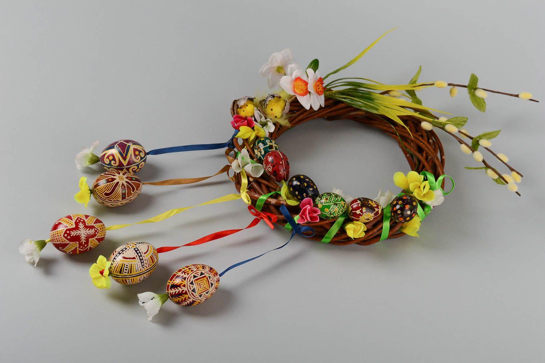madeheart couronne porte fait main d coration p ques accessoire design osier fleurs. Black Bedroom Furniture Sets. Home Design Ideas