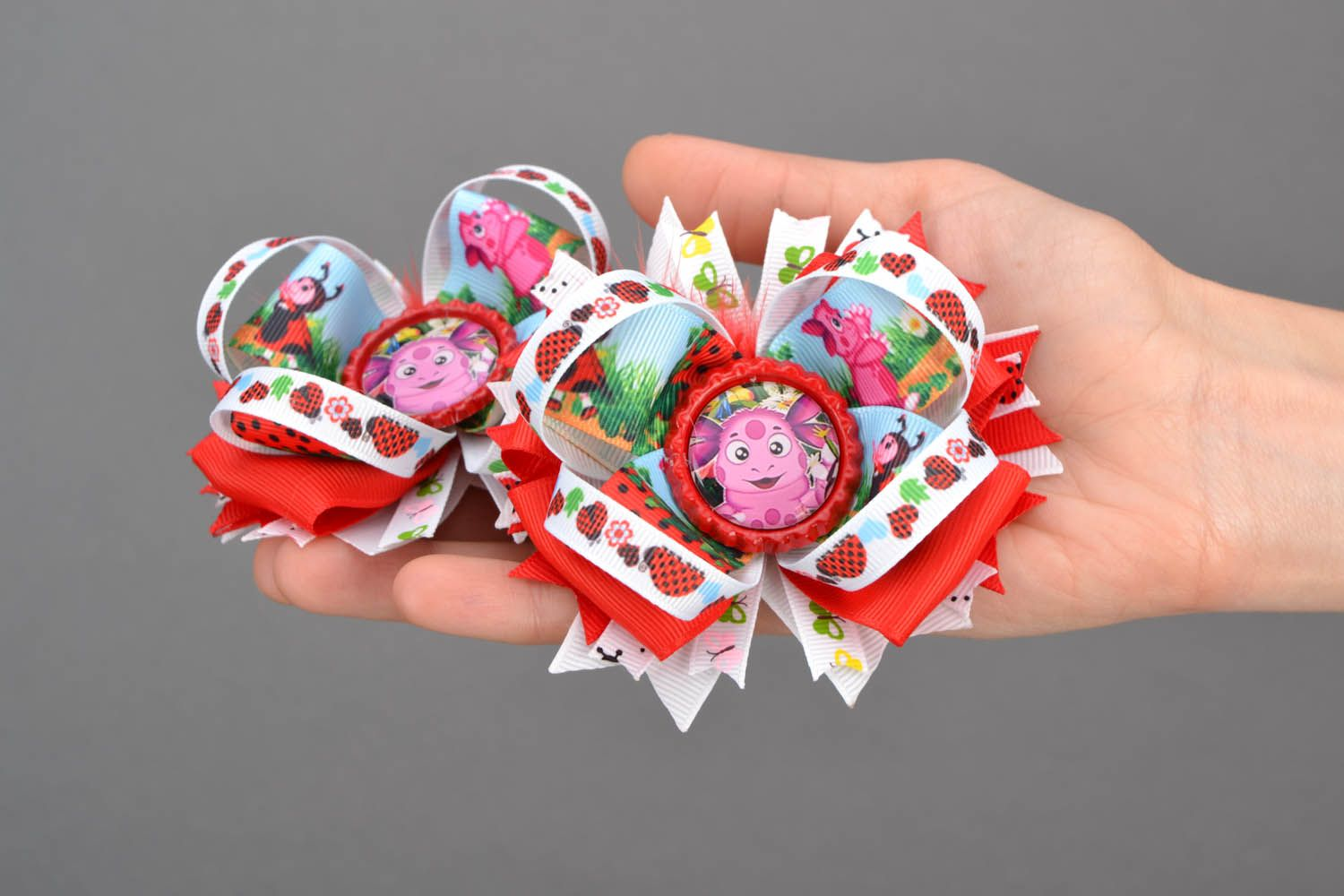 Baby scrunchy with cartoon characters photo 2