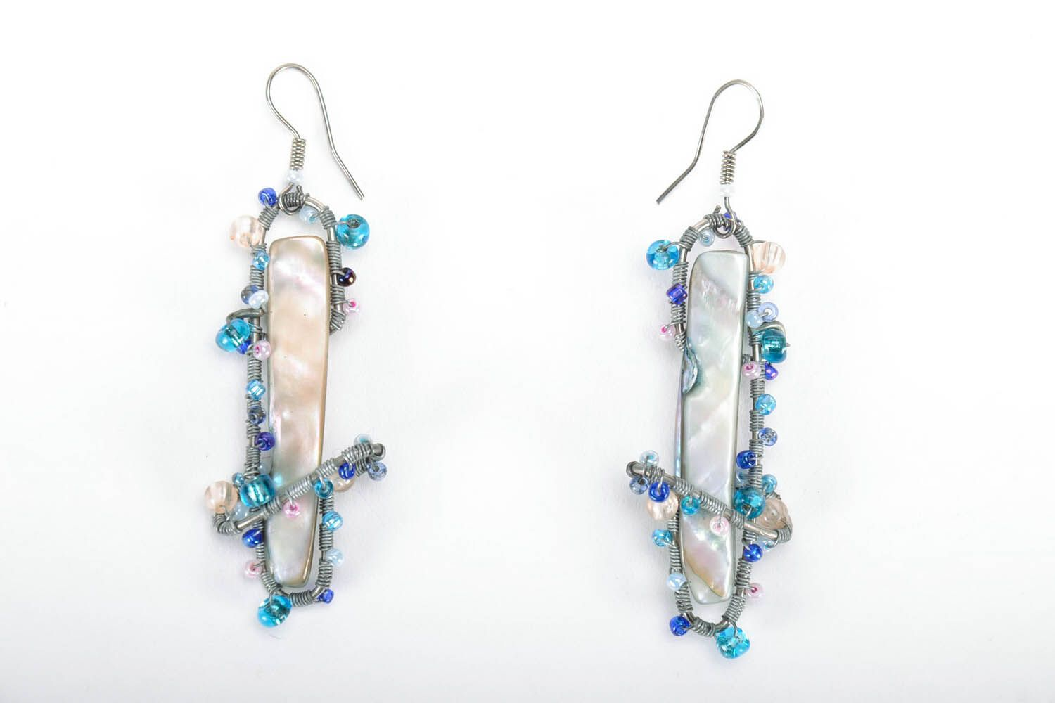 Earrings with nacre photo 3