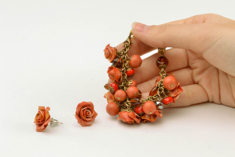 Set of polymer clay jewelry photo 4