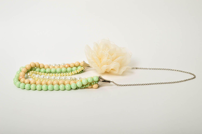Damen Collier handgefertigt Modeschmuck Halskette Geschenk für Frauen schön foto 5