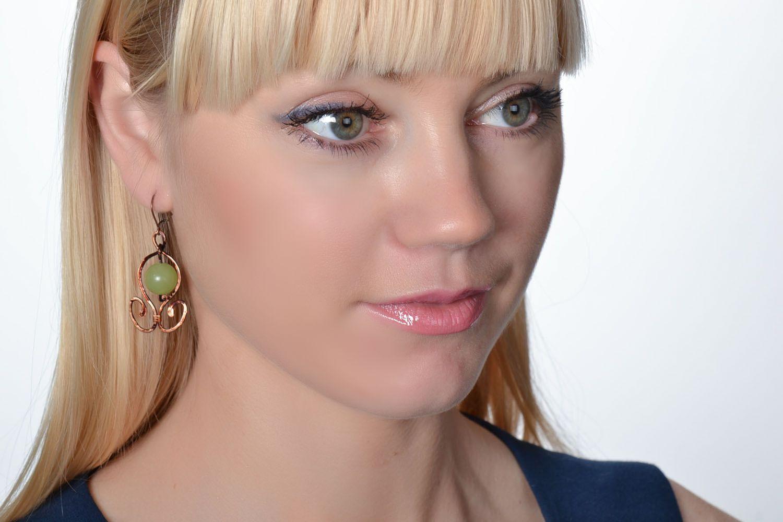 Elegant earrings with onyx photo 2