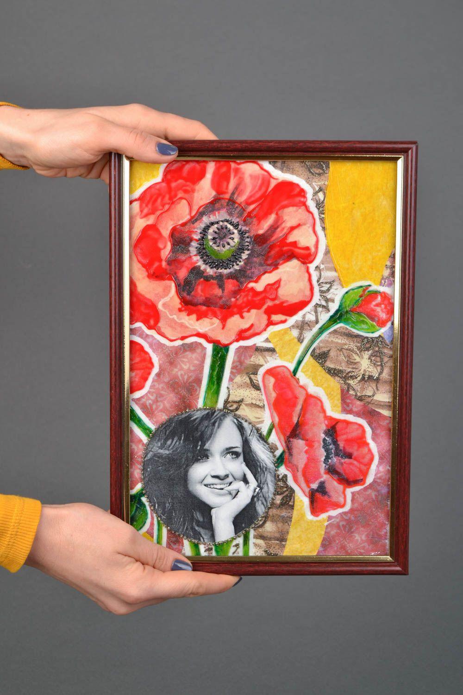 Glass photo frame Poppies photo 2