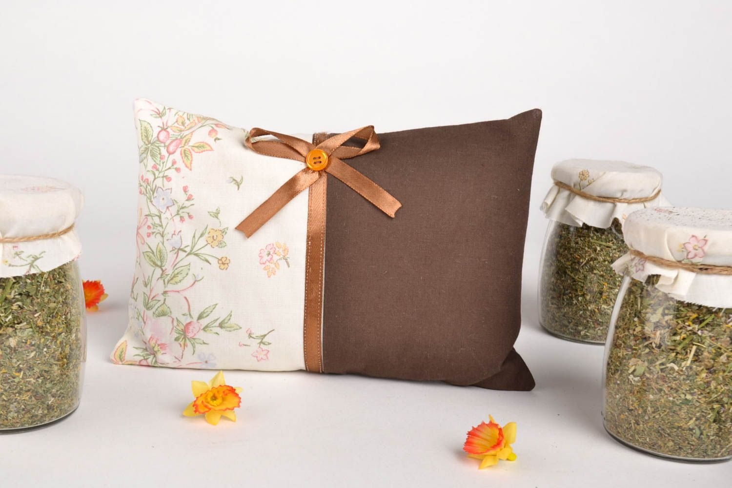 Homemade sachet pillow scented sachet aroma therapy home decor gifts for mom photo 1