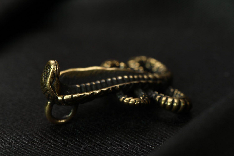 Bronze pendant Cobra photo 2