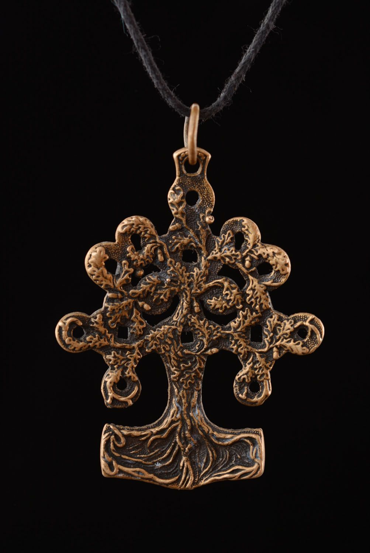 Bronze pendant Tree of Life photo 3