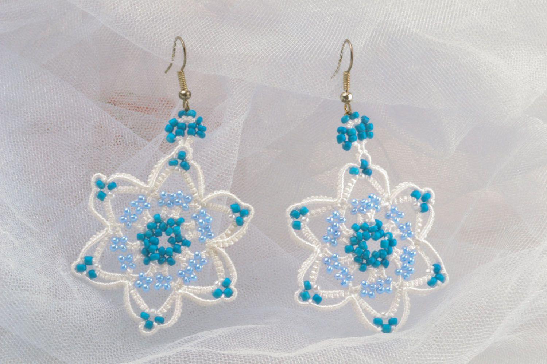 Crocheted handmade earrings photo 1