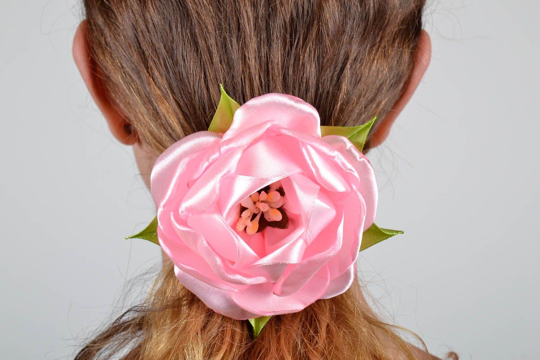 Blume Haargummi aus Atlas Pfingstrose foto 5