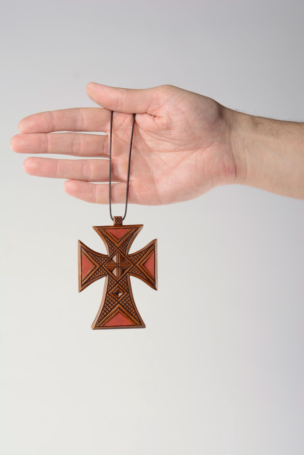 next to skin crosses Large wooden crucifix - MADEheart.com