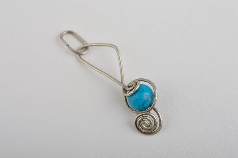 Stylish handmade metal neck pendant stone pendant beaded pendant design photo 2