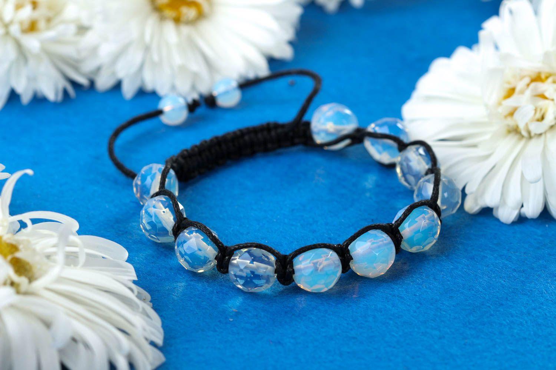 Handmade bracelet beaded bracelet gemstone jewelry designer accessories photo 1