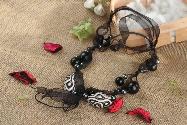 Unusual beaded necklace photo 5