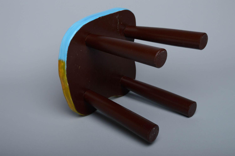 hangers and Coat Racks Decoupage wooden stool - MADEheart.com