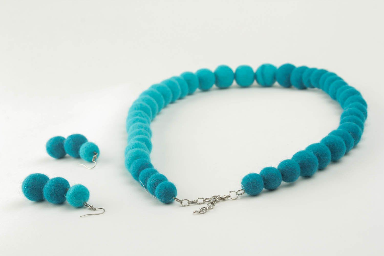 Woolen jewelry set photo 3