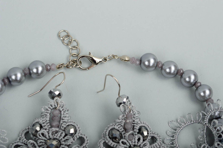 Handmade woven lace earrings woven earrings designer accessories for girls photo 4