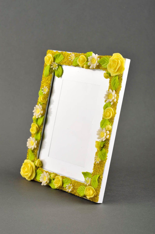 MADEHEART > Marco para foto hecho a mano con flores decoración de ...