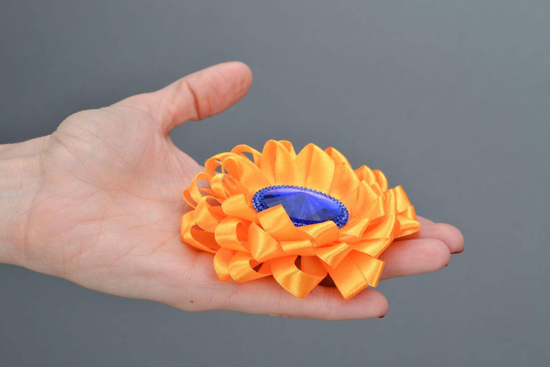 Orange Haarklemme Brosche foto 2