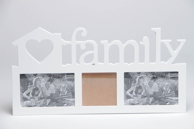 MADEHEART > Handgemachter weißer Fotorahmen aus Holz für drei Fotos ...