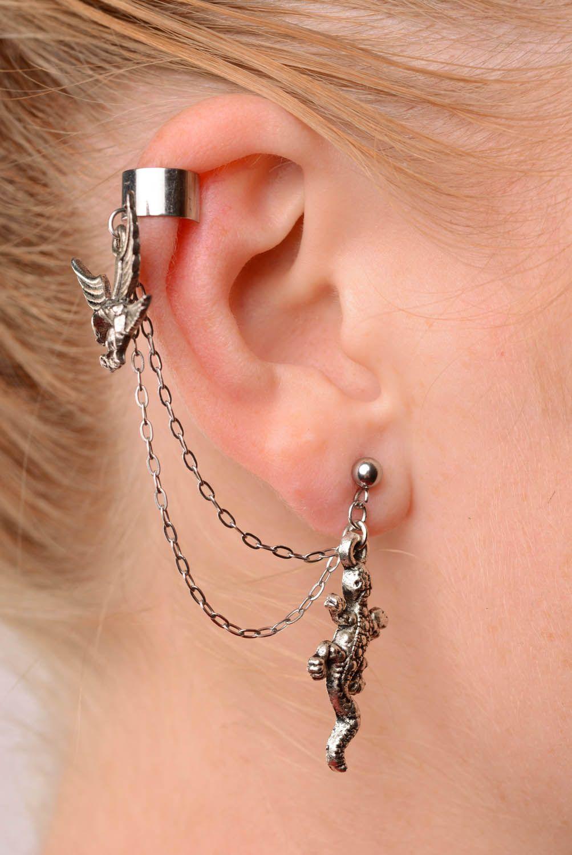 Steel cuff earrings Forest Kingdom photo 3