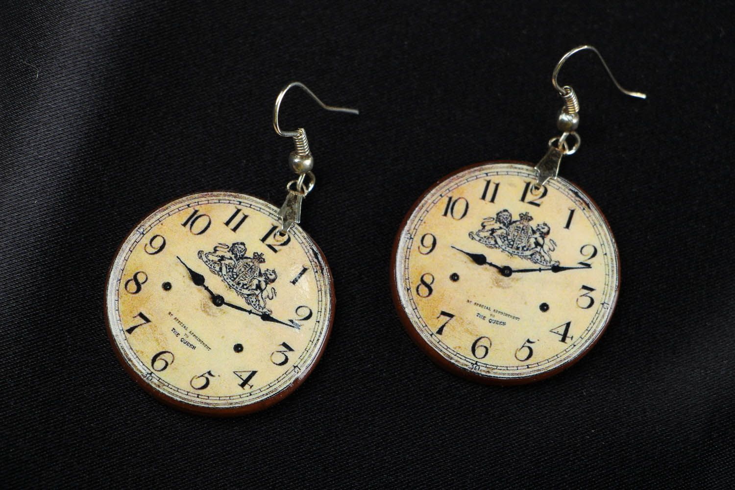 Earrings Clock photo 1