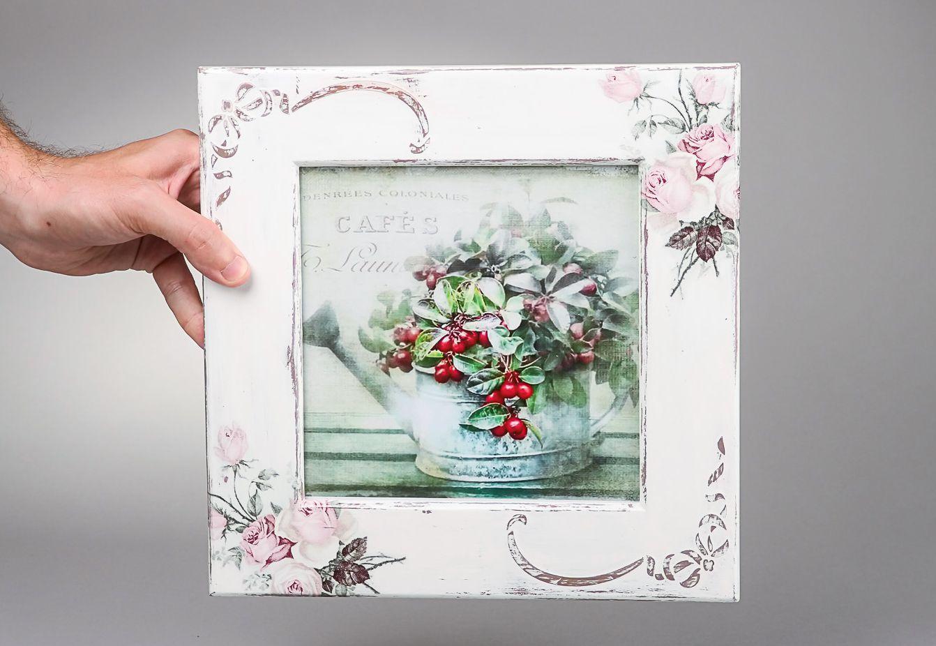 Marco para fotos Rosas delicadas, decoupage foto 3