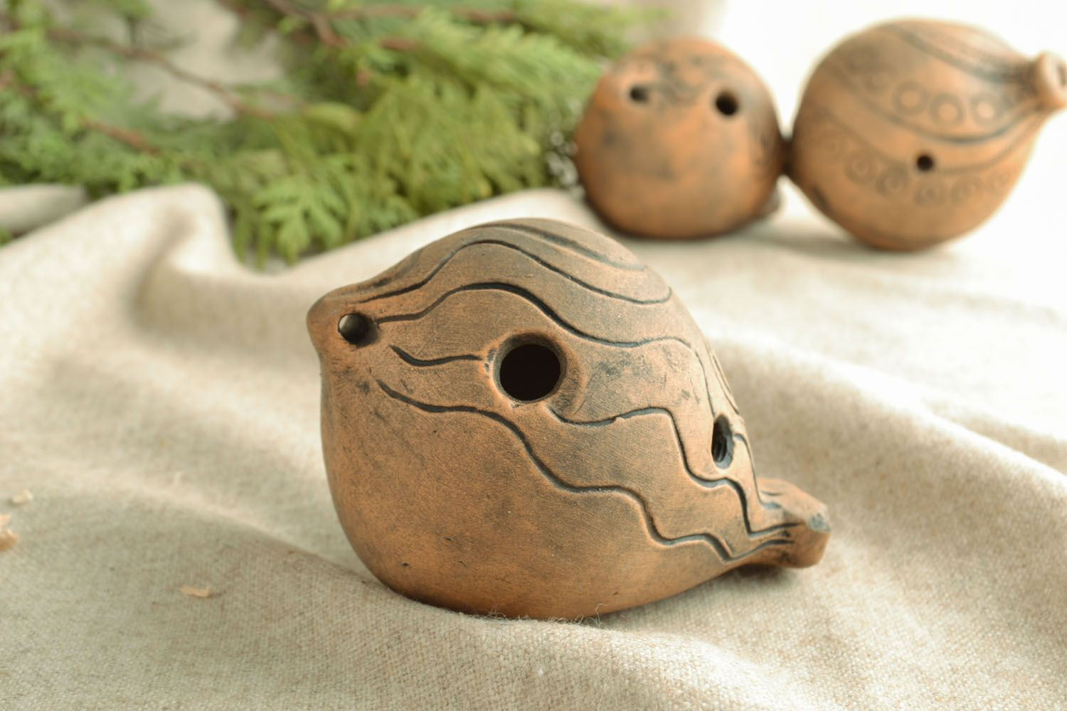 Clay penny whistle photo 1
