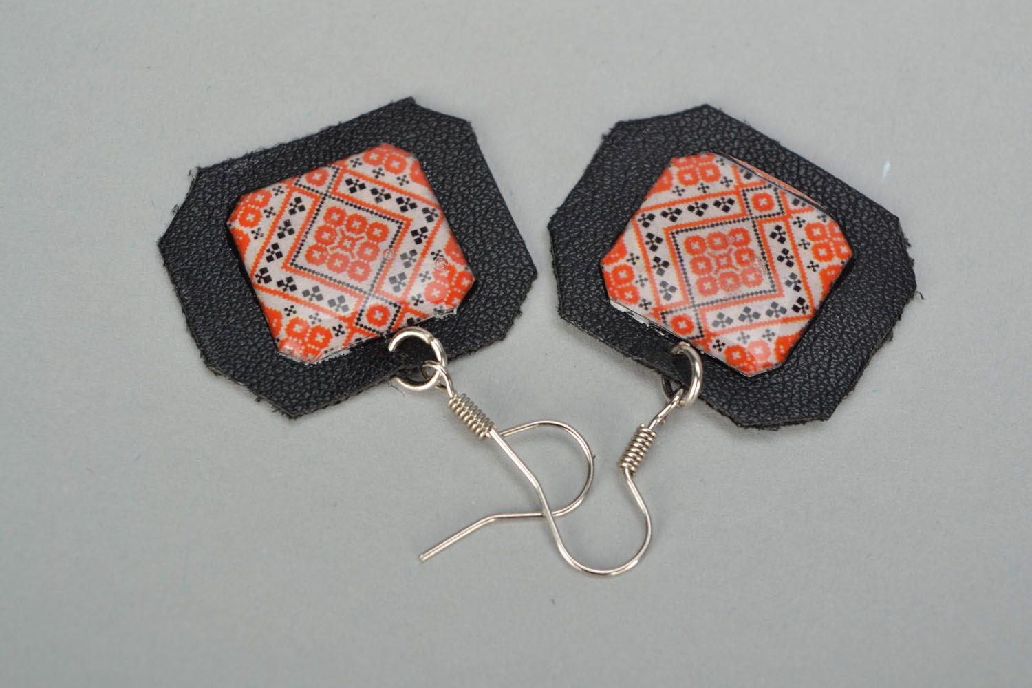 Unusual earrings Embroidery photo 4