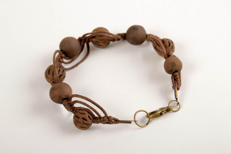 clay bracelets Handmade ceramic bracelet clay beaded bracelet eco friendly accessories - MADEheart.com