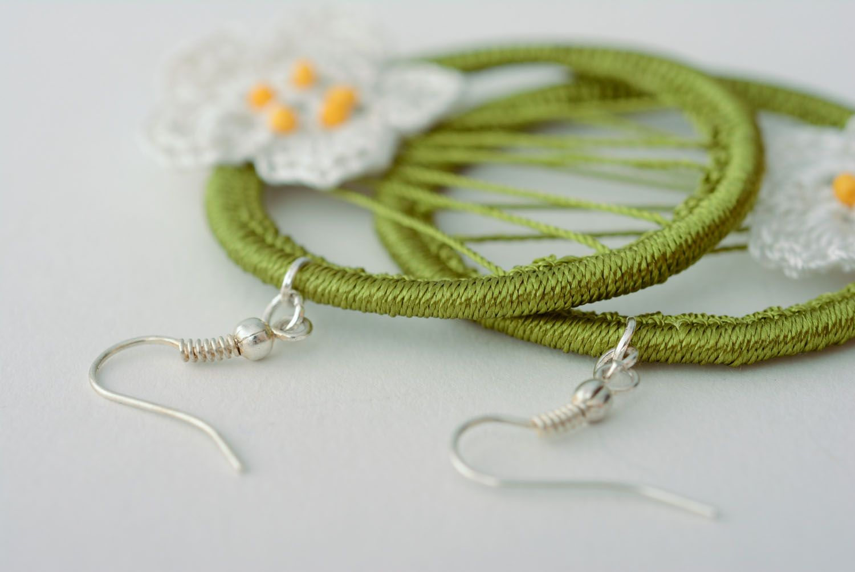 Hoop earrings on aluminium basis photo 4