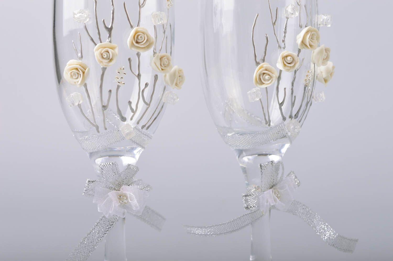 Madeheart copas de boda para cava hechas a mano con for Copas decoradas a mano